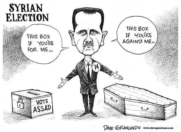 La boîte de gauche si vous votez pour moi, celle de droite si vous votez contre moi